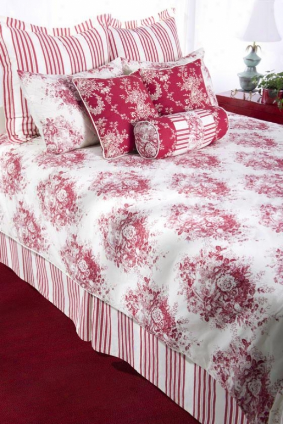 Camille Bedding Set - Queen, Red