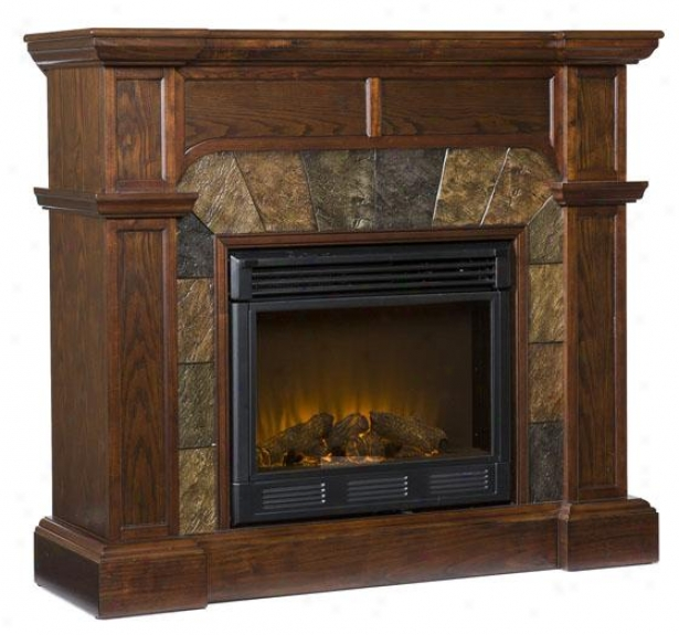 Camille Convertible Fireplace - Electric Frplce, Coffee Brown