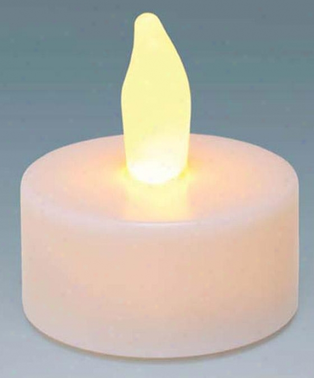 Candle Impresisons Plastic Led Tea Lights - Set Of 10 - 10 Pack, White