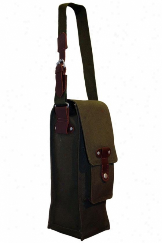"""cargo Single Wine Bag - 15""""hx6""""wx5""""d, Dark Serious"""