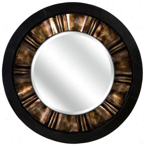 """cassia Mirror - 44.5""""d, Black"""