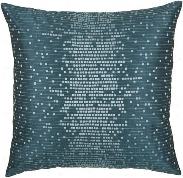 """caufield Pillow - 18""""x18"""", Peacock Blue"""