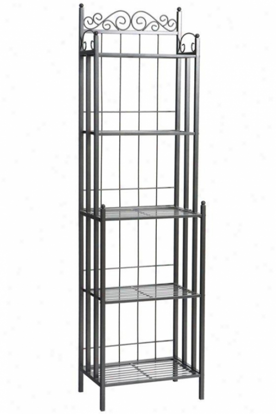 Celtic Metal Baker's Rack - 69.25hx19.5w, Gray