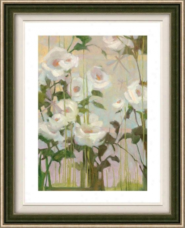 Ceremony Roses I Framed Wall Art - I, Floated Silver