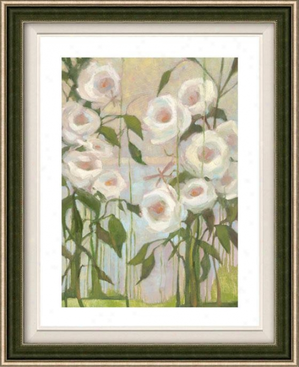 Ceremony Roses Ii Framed Wall Art - Ii, Floated Silver