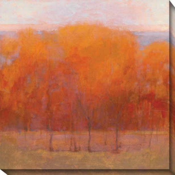 Change Of Seasons Iii Canvas Wall Art - Iii, Orange