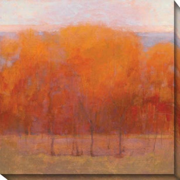Change Of Seasons Iii Canvas Wall Art - Iii, Orange