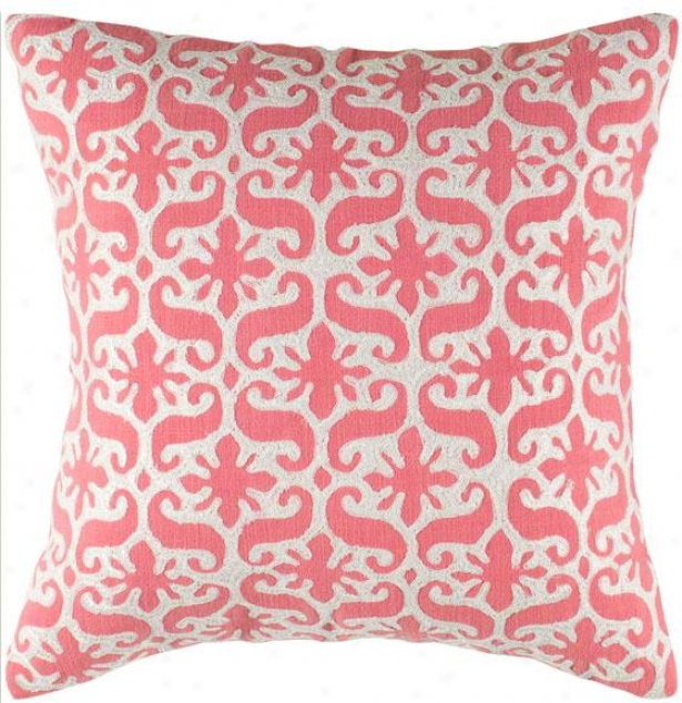 """charlotte Decorative Pillow - 18"""" Square, Pink"""