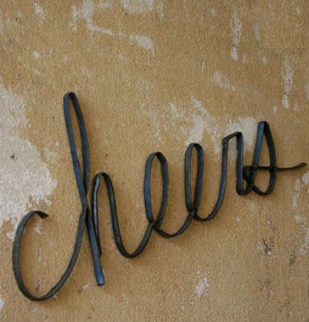 """cheers Wall Sculpture - 9.5""""hx28.25""""w, Bronze"""