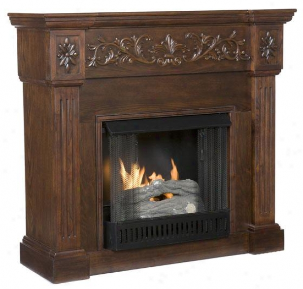 Chesney Fireplace - Gel Fireplace, Coffee Brown