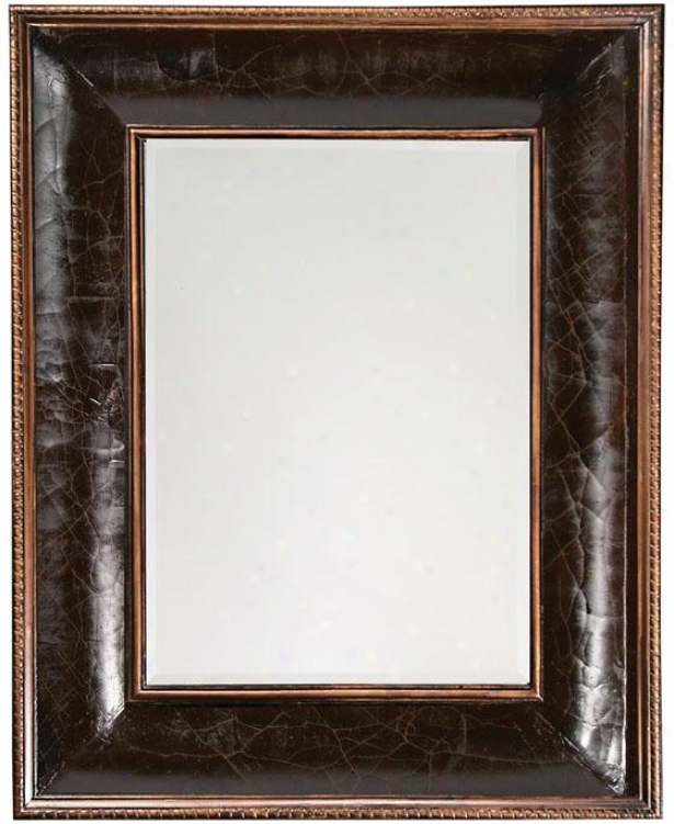 """chevreuse Mirror - 42""""hx52""""wx3""""d, Crackled Brown"""