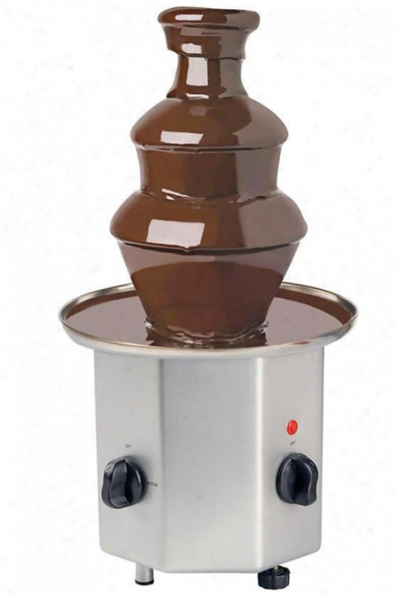 Chocolate Fountain - 16hx8.5wx8.5d, Silver