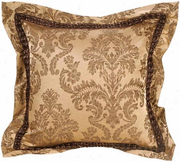 """chole Pillow - 18"""" Square, Bown"""