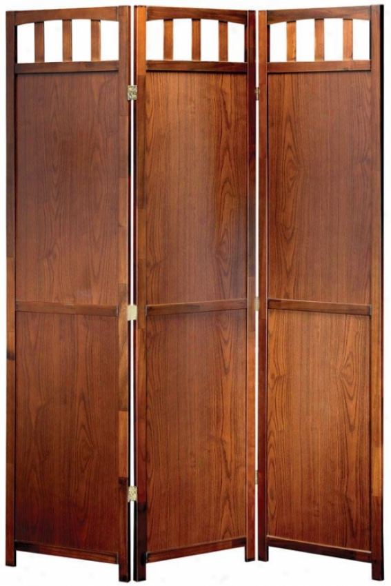 Churchill Folding Screen - 70hx52ex1d, Brown Wood