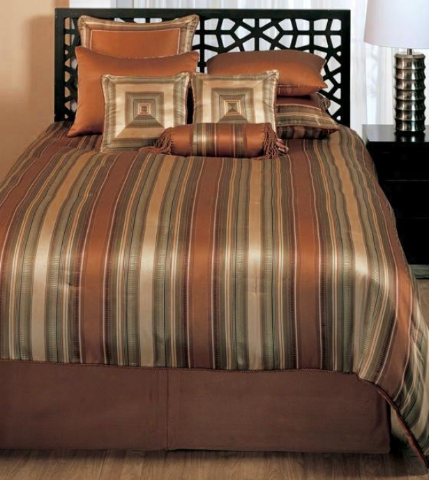 Cicero Bedding Set - Queen, Copper
