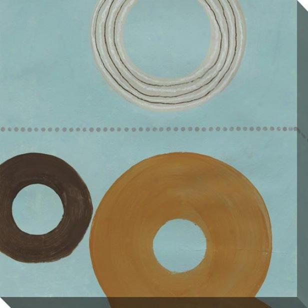 Circles On Canvas Ii Wall Art - Ii, Blue