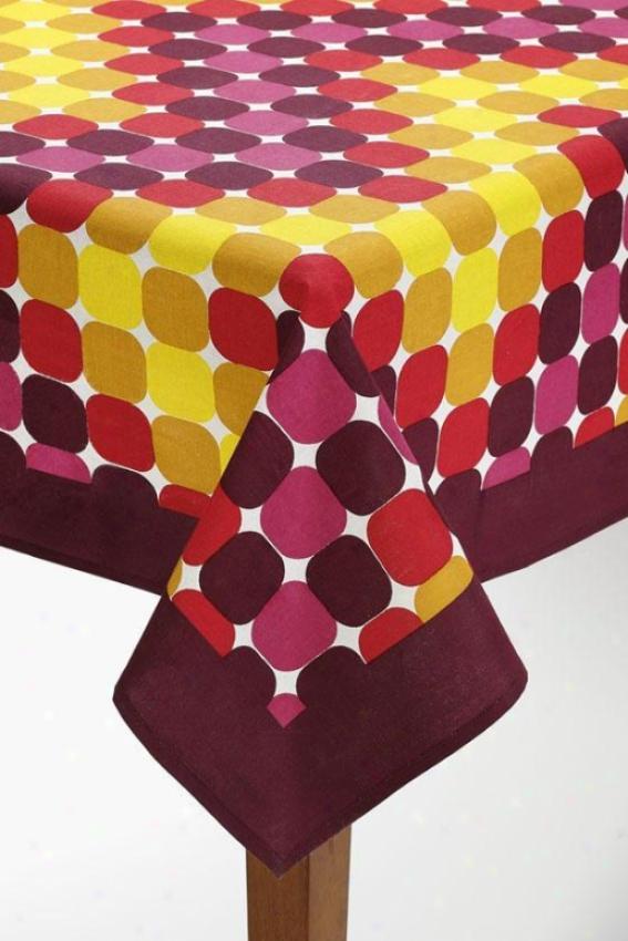 """cirque Tablecloth - Cirque, 70x108""""/maroon"""