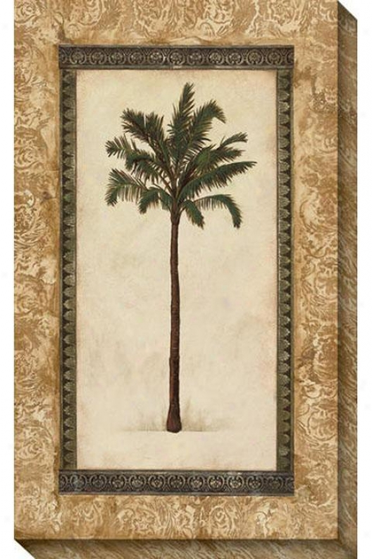 Classic Palm Ii Canvas Wall Art - Ii, Beige