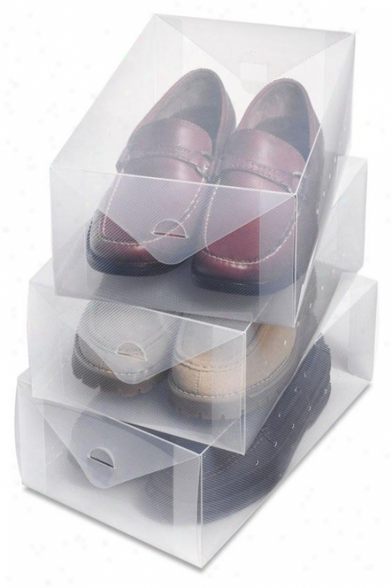 """clear Vue Men's Shoe Driver's seat - Set Of 3 - 5""""hx8.5""""wx13"" ""d, White"""