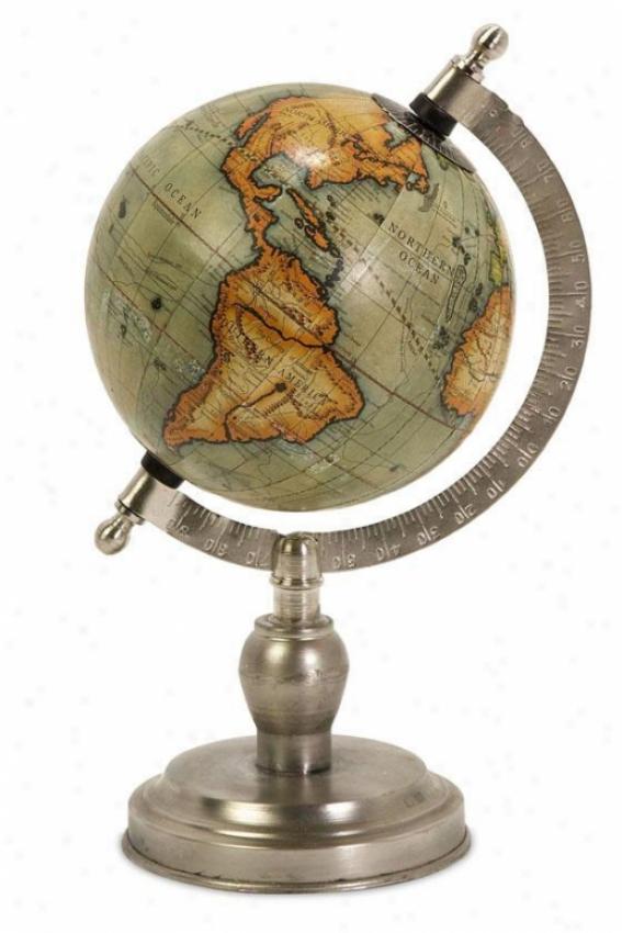 """columbus Globe - 10""""hx6""""d, Silver"""