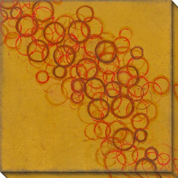 Commune Viii Canvas Wall Art - Viii, Gold