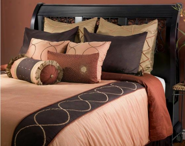 Concentriic Bedding Set - Cal King 11pc S, Pumpkin
