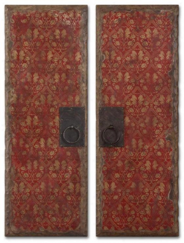 Coventry Panels - Set Off 2 - Set Of Two, Red