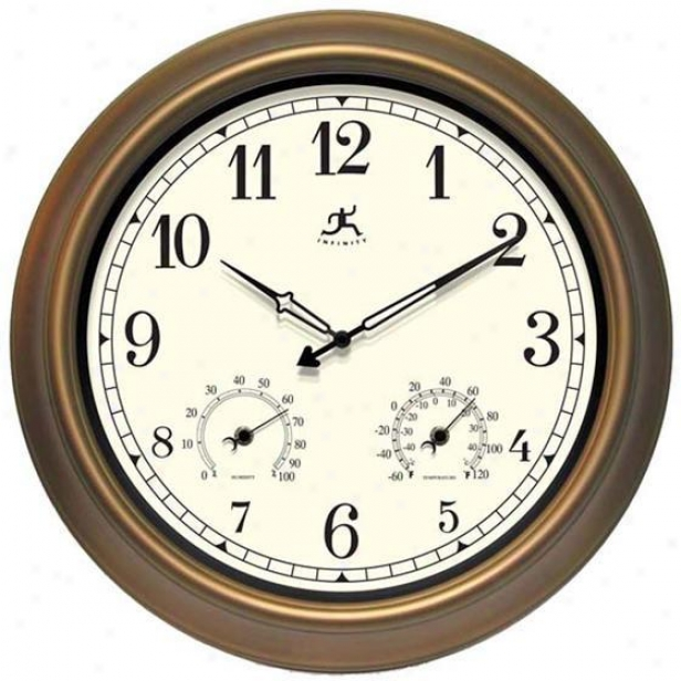 """craftsman Wall Clock I - 18""""d, Bronze"""