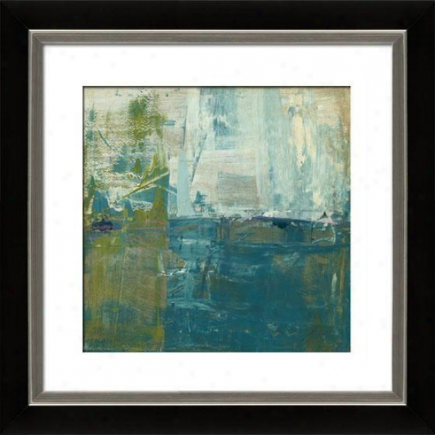 Creation Of Landscapes Ii Framed Wall Art - Ii, Mttd Black/slfr