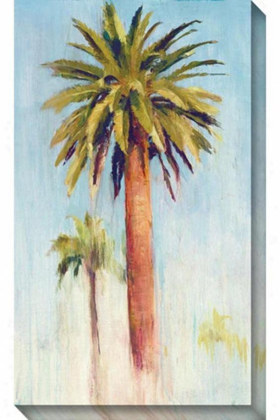 Date Palm Ii Canvas Wall Art - Ii, Blue