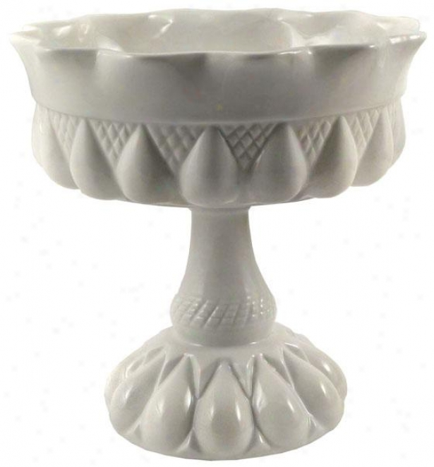 Decor Bon Bon Footed Compote - Round, White