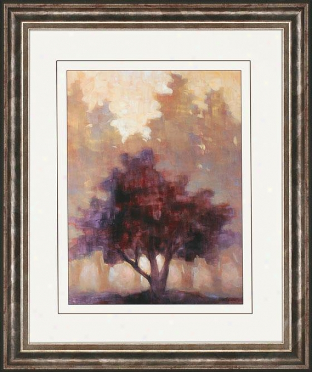 Depth And Tranquility Wall Art - I, Plum/beige