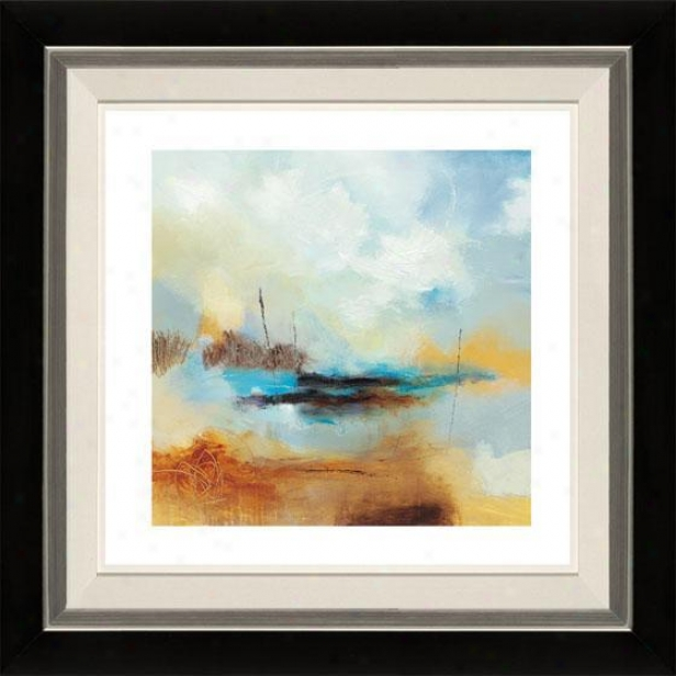 Desert Skies Ii Framed Wall Art - Ii, Flt Black/slvr