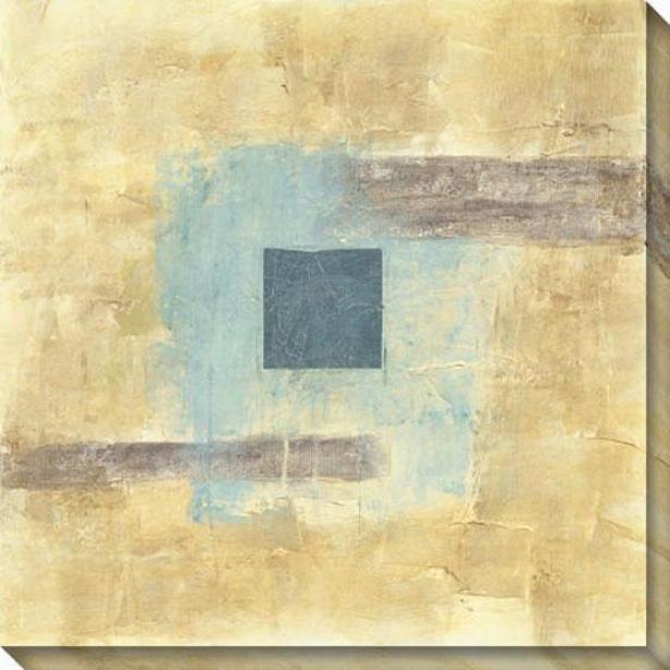 Disseminate I Canvas Wall Art - I, Ivory