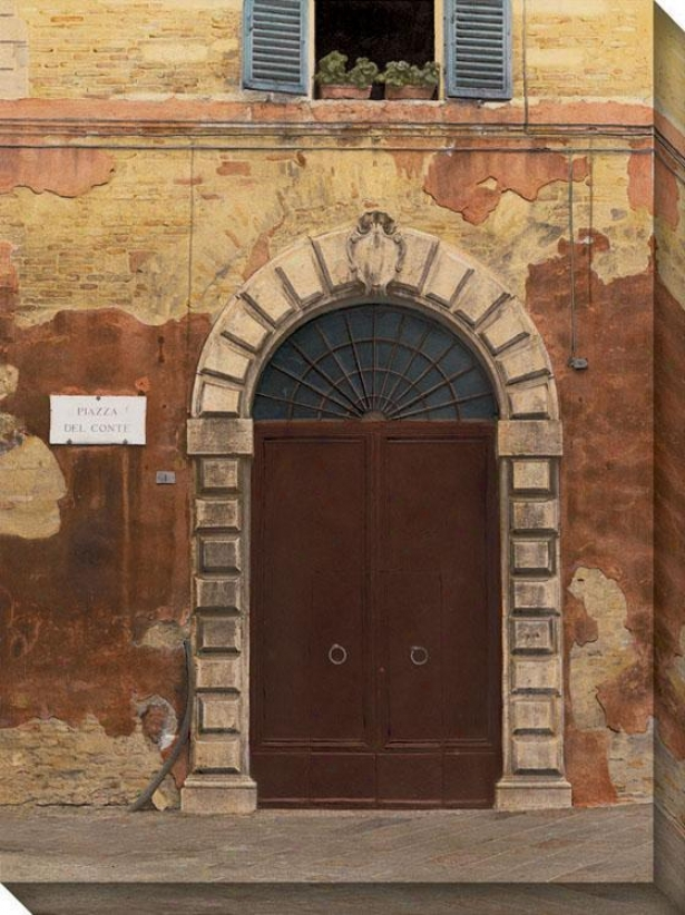 Door Succession Ii Canvas Wall Art - Ii/brick Bend , Multi