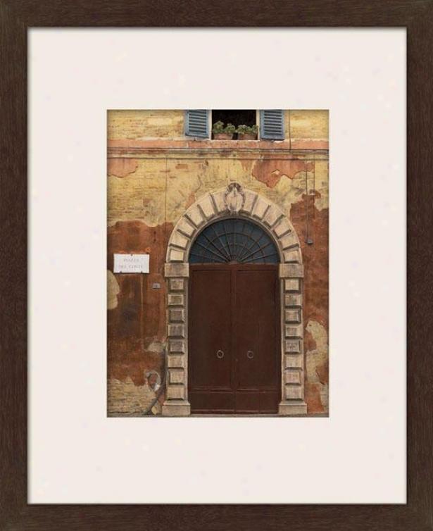 Door Series Ii Framed Wall Art - Ii, Matted Espresso