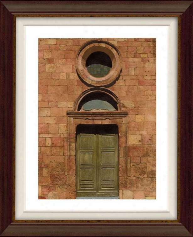 Door SeriesI ii Framed Wall Art - Iii, Flt Atq Wln/gld