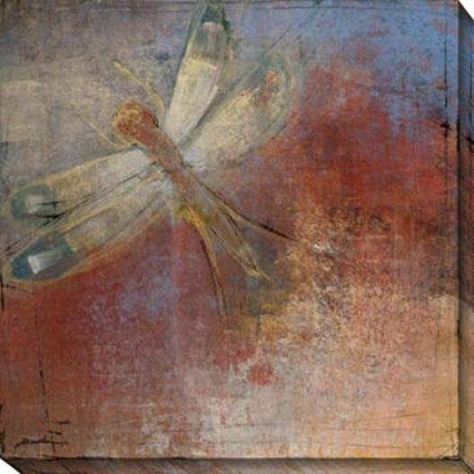 Dragonfly I Canvas Wall Art - I, Purple