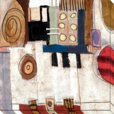 Dream Through Time Iv Canvas Wall Art - Iv, White