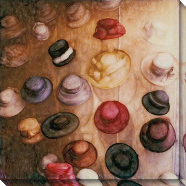 """""""dutch Hats Canvas Wall Art - 40""""""""hx40""""""""w, Yellow"""""""