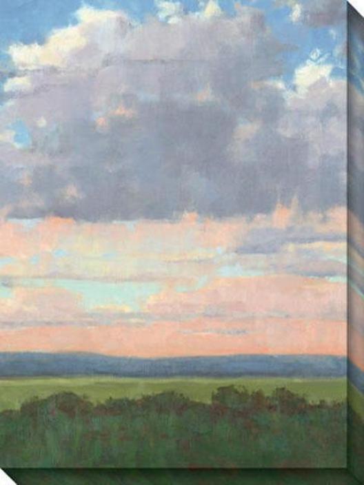 Easter Morning Iii Canvas Wall Art - Iii, Blue