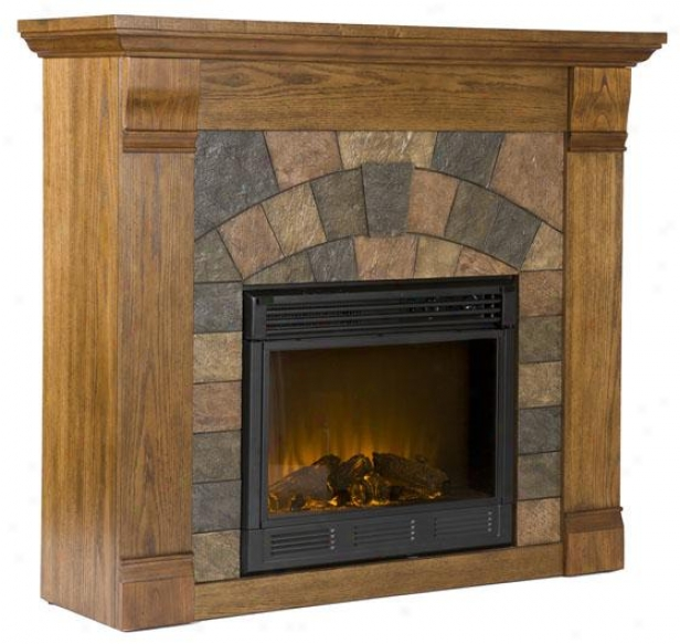 Edgewater Fireplace - Electric Frplce, Oak