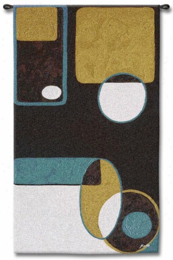 """effervescence Tapestry - 55""""hx31""""w, Multi"""
