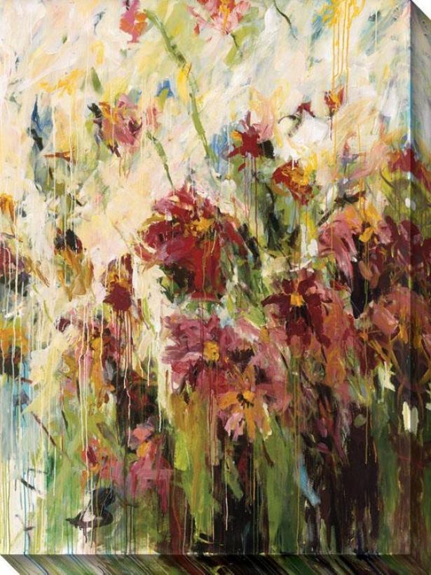 Efflorescence I Canvas Wall Art - I, Red