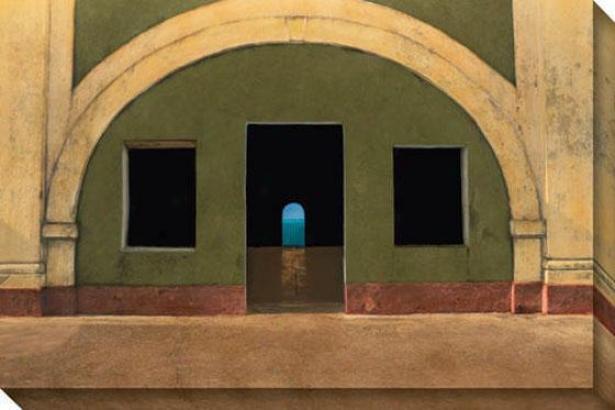 """el Morro Fortaleza Canvas Wall Art - 48""""hx32""""w, Beige"""