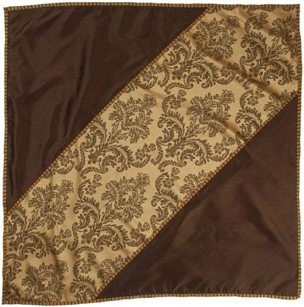 """elegance Table Topper - 40"""" Square, Brown"""