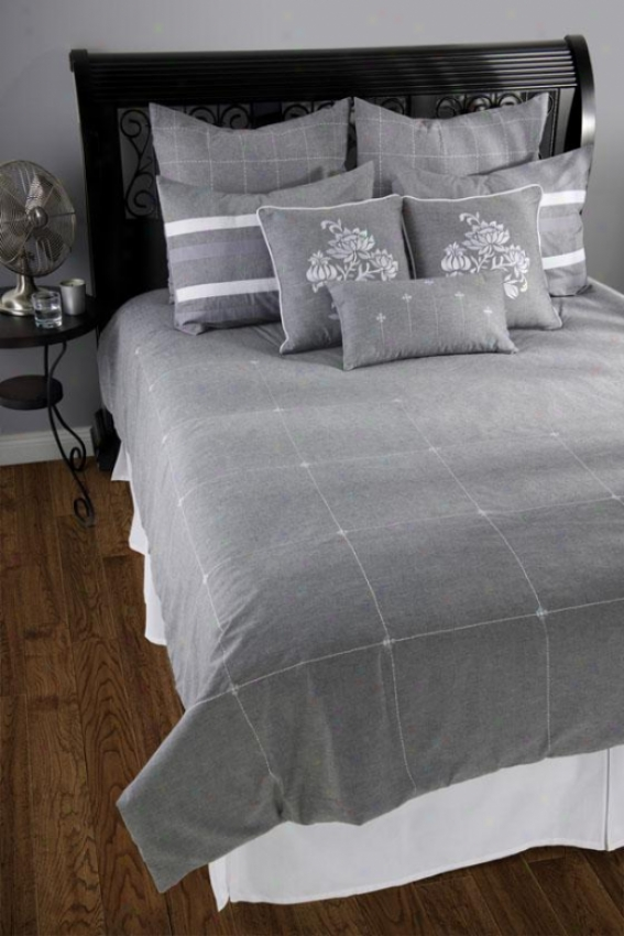 Elise Bedding Set - Full 5pc Set, Gray