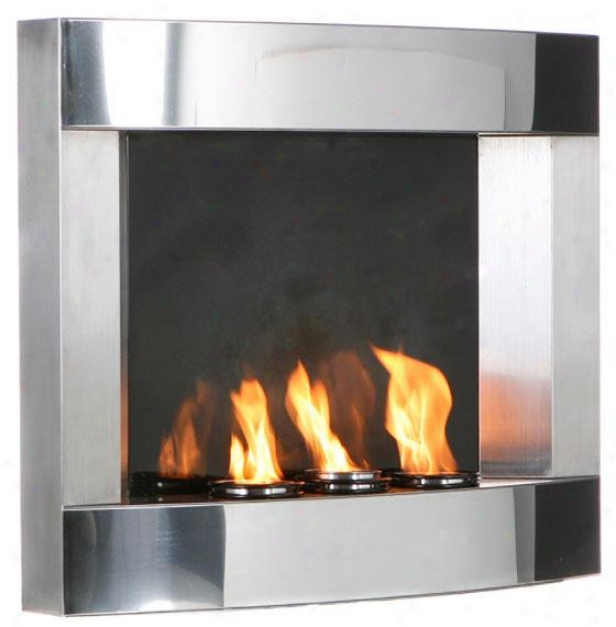 """elliot Wall Mount Fireplace - 30""""wx24""""hx6""""d, Soft and clear """