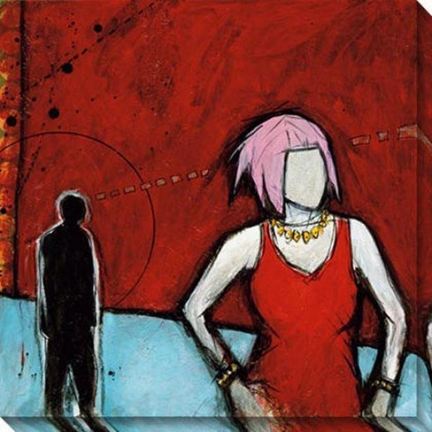 """elusive Canvas Wall Art - 40""""hx40""""w, Red"""