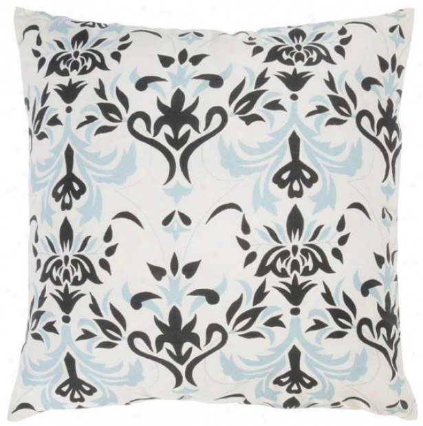 Emilie Pillow - 18x18, Black & Blue
